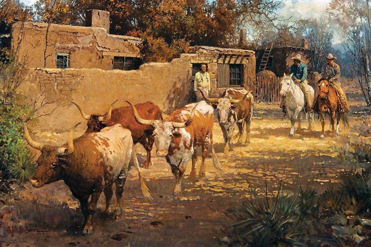 remenants of the herd oil canvas melvin warren true west magazine