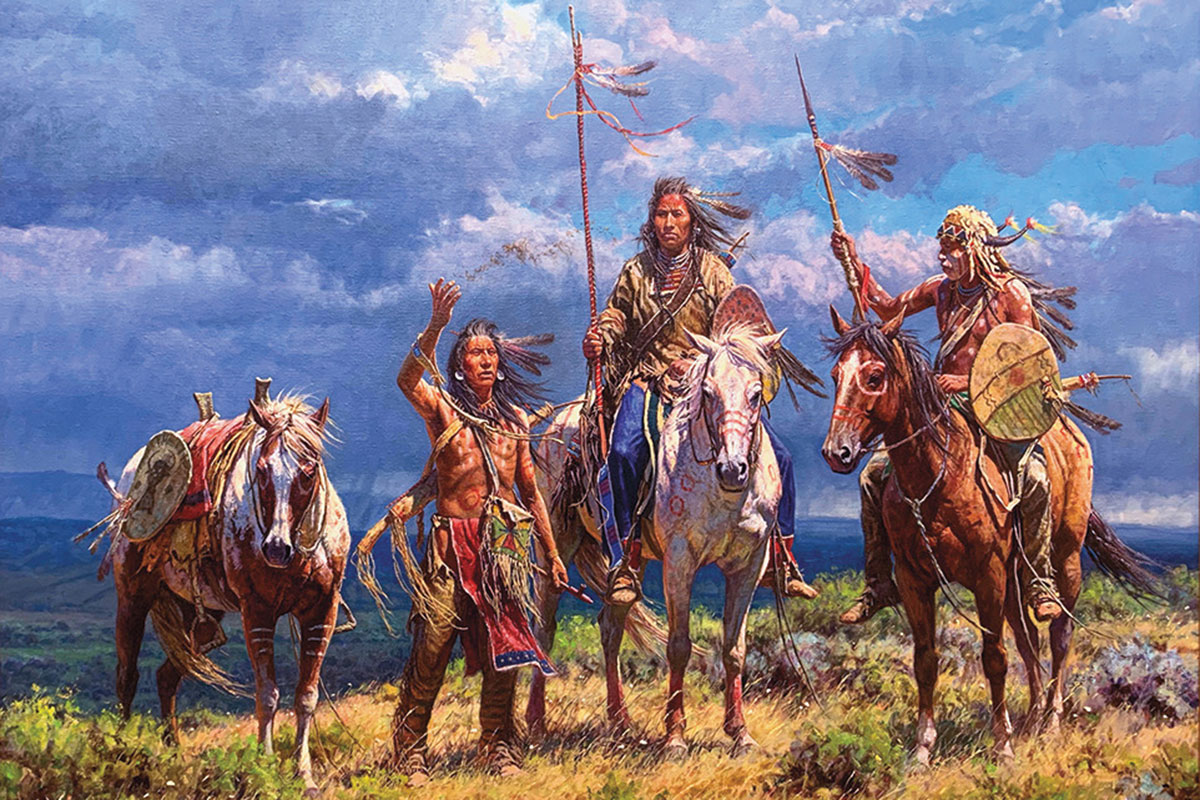 offering of the wind oil on linen martin grelle true west magazine