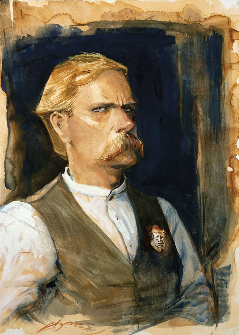 wyatt earp painting bob boze bell true west magazine