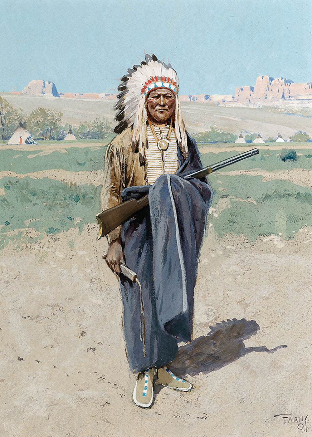henry farny indian chief true west magazine