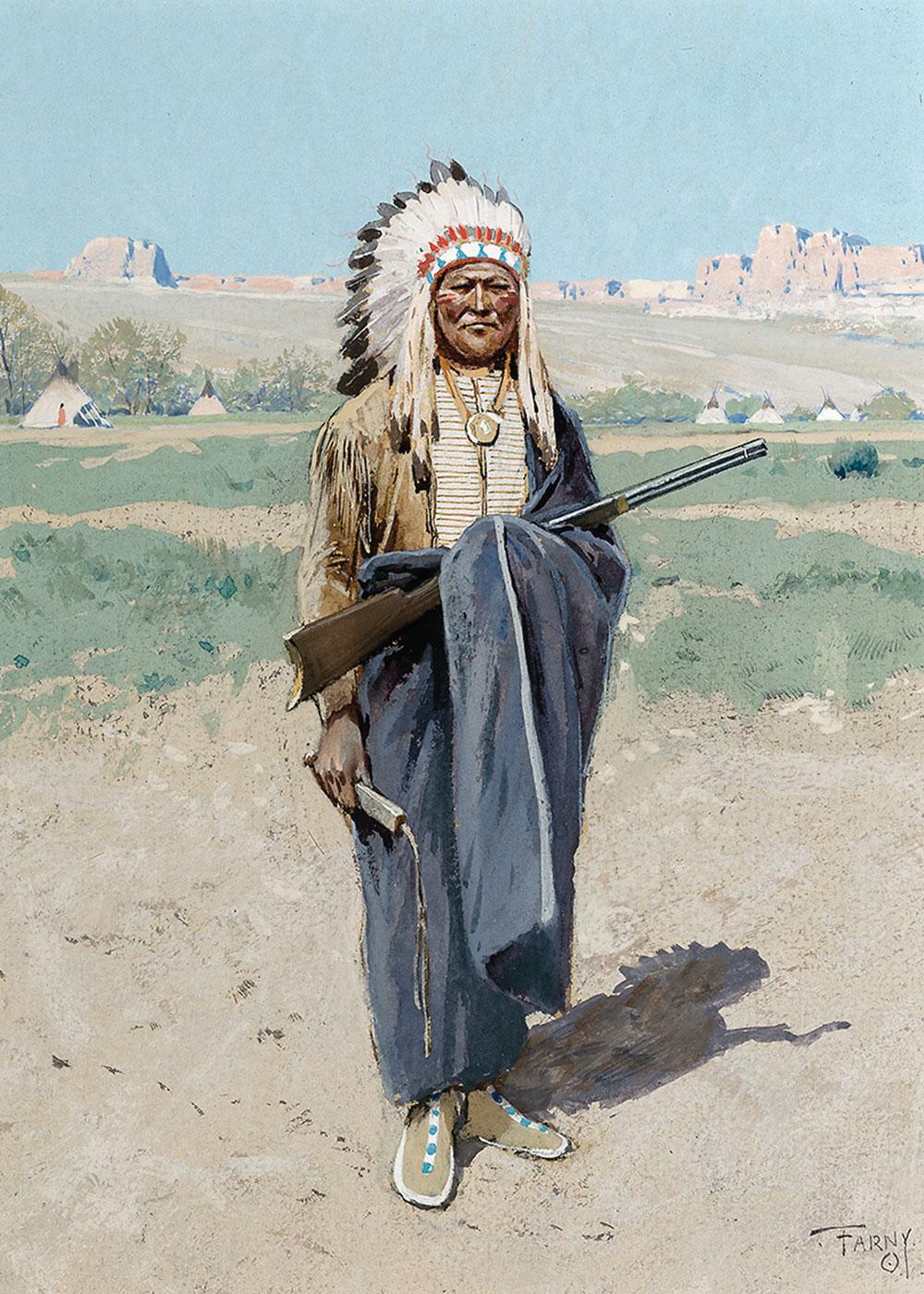 henry farny indian chief true west magazine