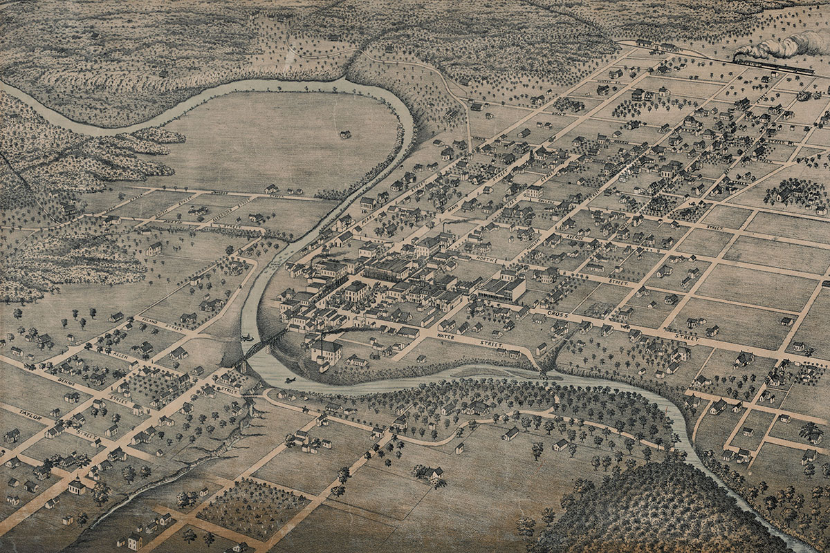 belton texas old map true west magazine