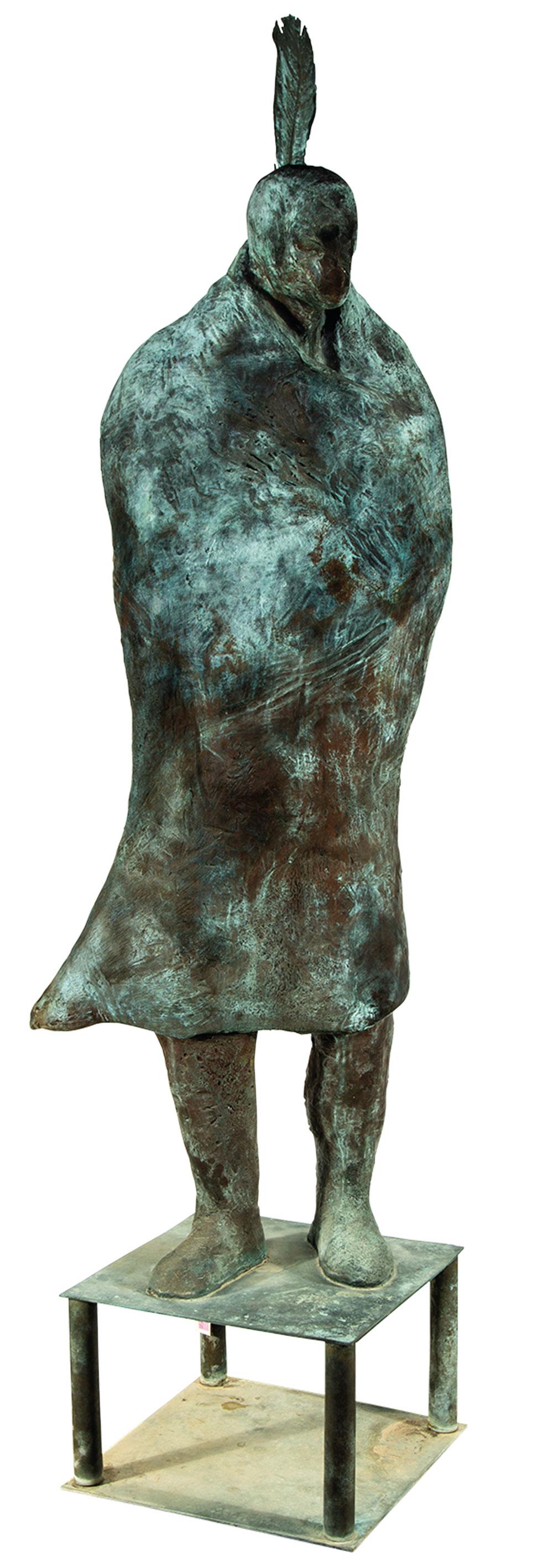 Fritz Scholders Untitled bronze patina true west magazine