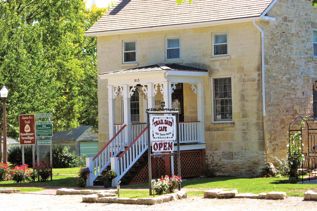 sante fe trail stone building council grove kansas true west magazine