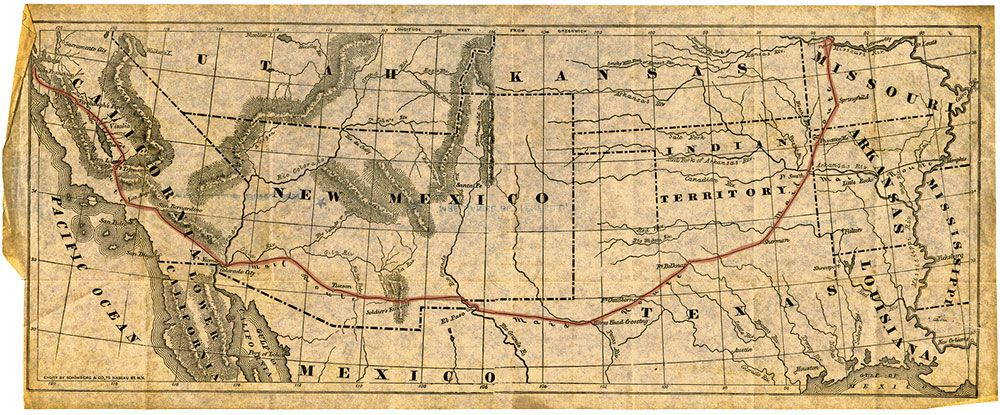john butterfield overland mail company route true west magazine