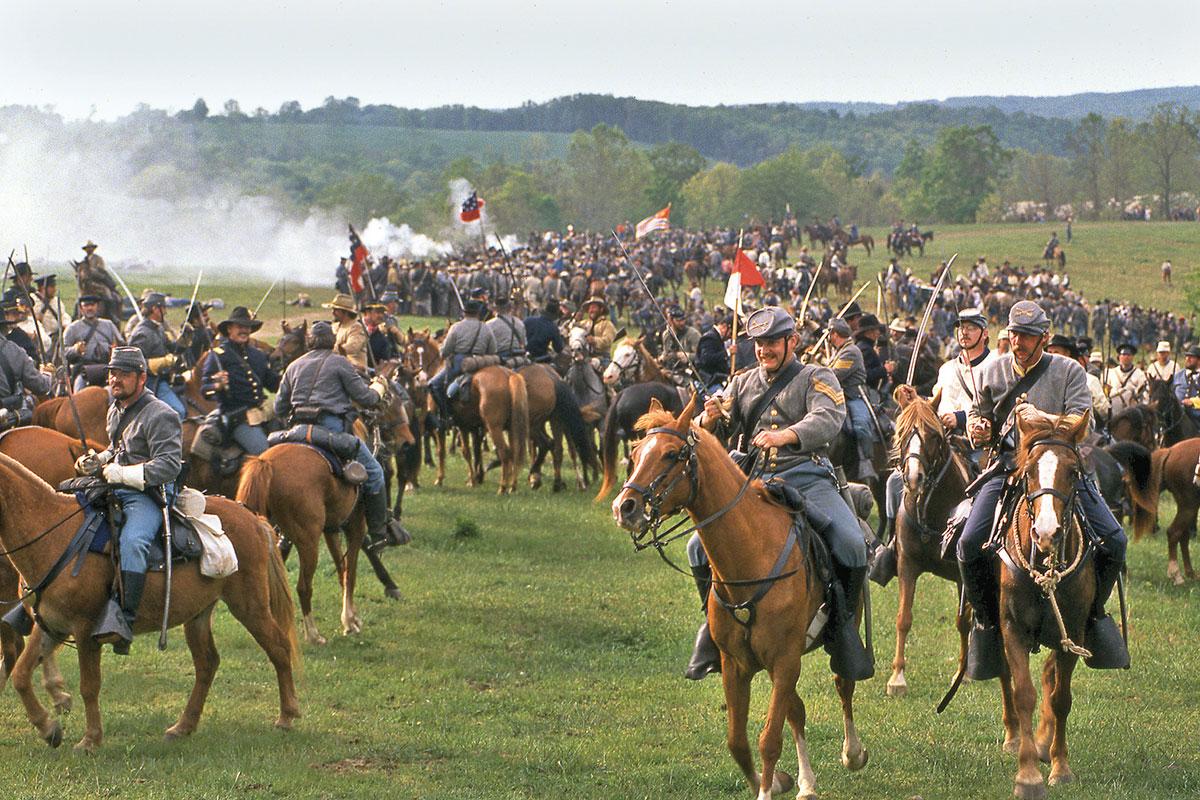 civil war battle if pea ridge elk horn tavern reenactment - true west magazine