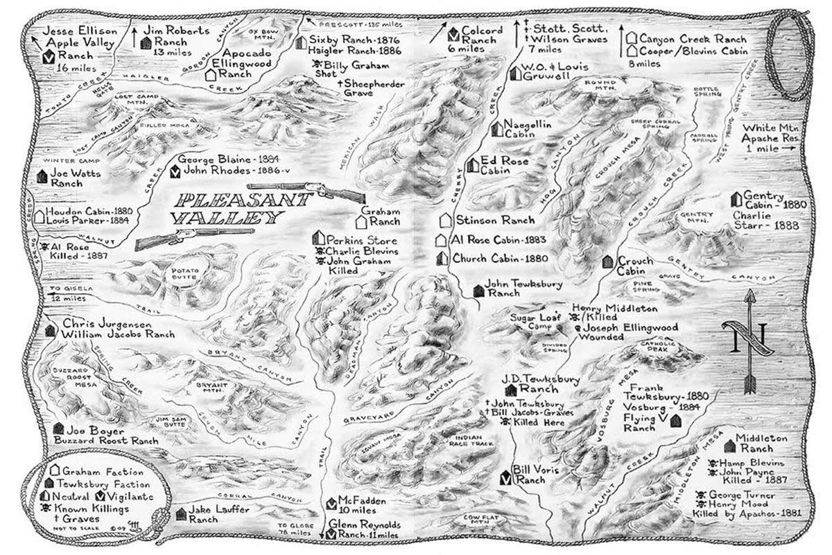 pleasant valley arizona map billy mulvenon true west magazine