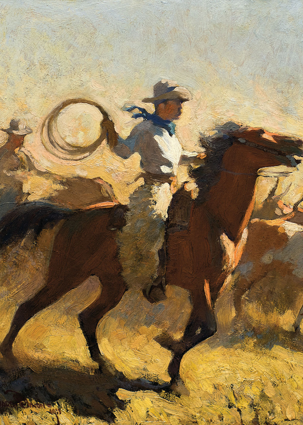 maynard dixon fogging the drags true west magazine