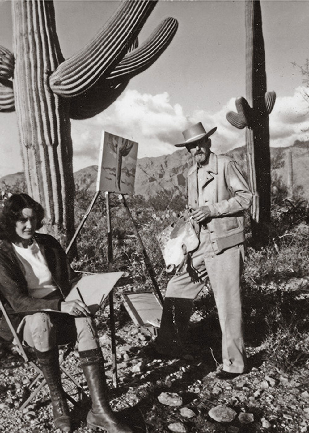 Edith Hamlin and Maynard Dixon true west magazine
