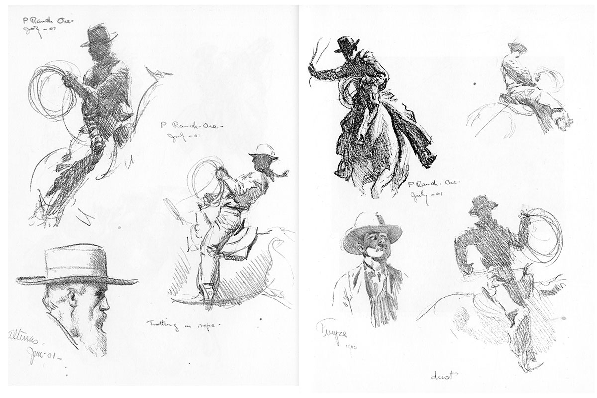 maynard sketches true west magazine