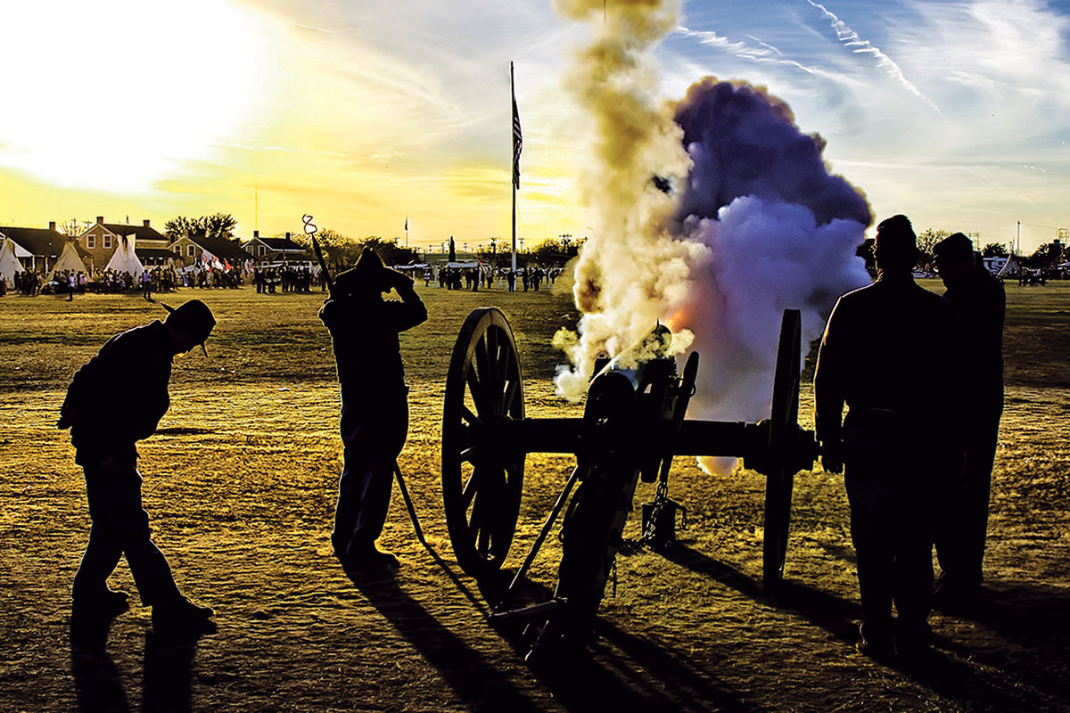 san angelo christmas at fort concho cannon fire true west magazine