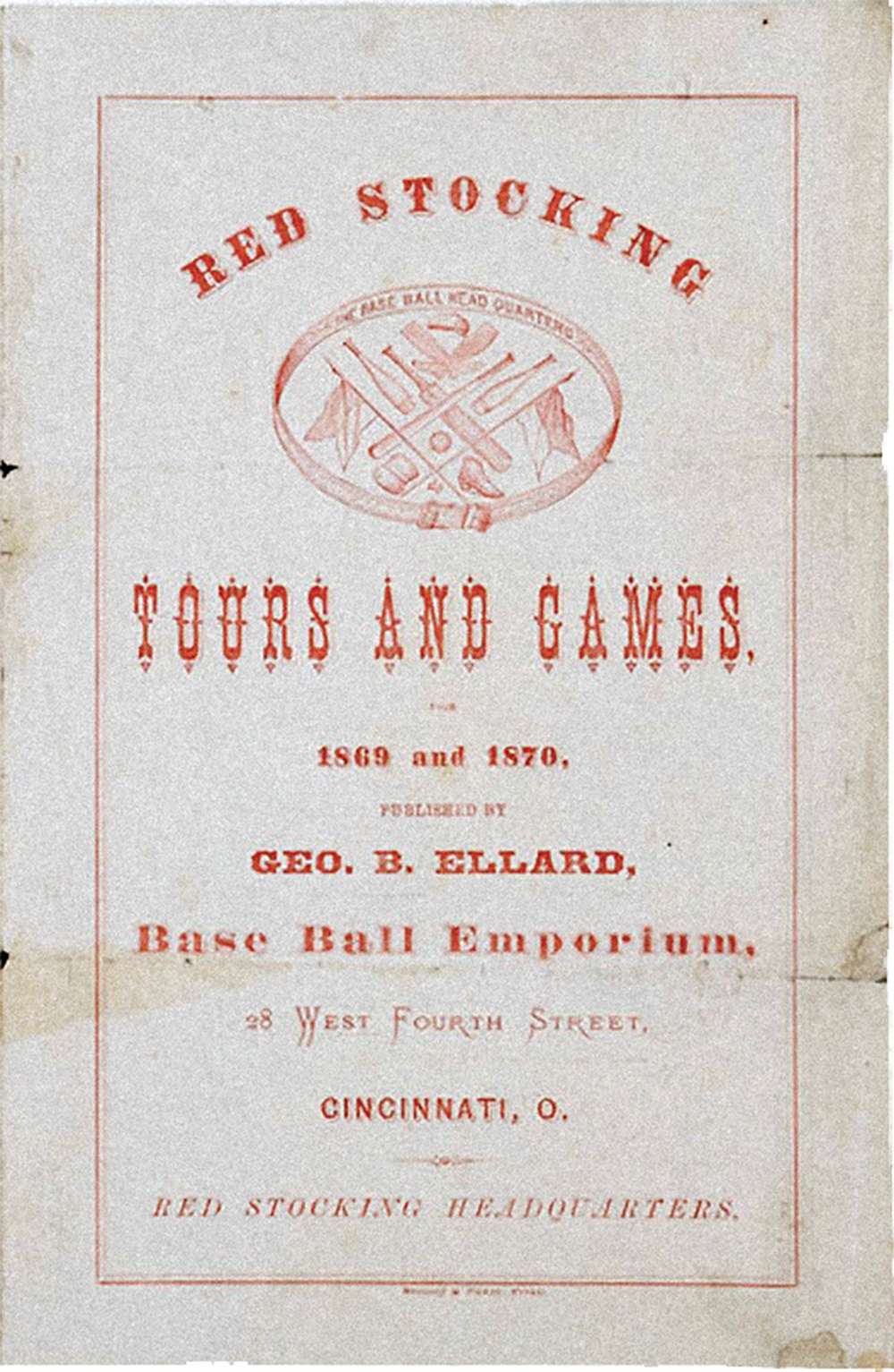 Cincinnati Red Stockings true west magazine