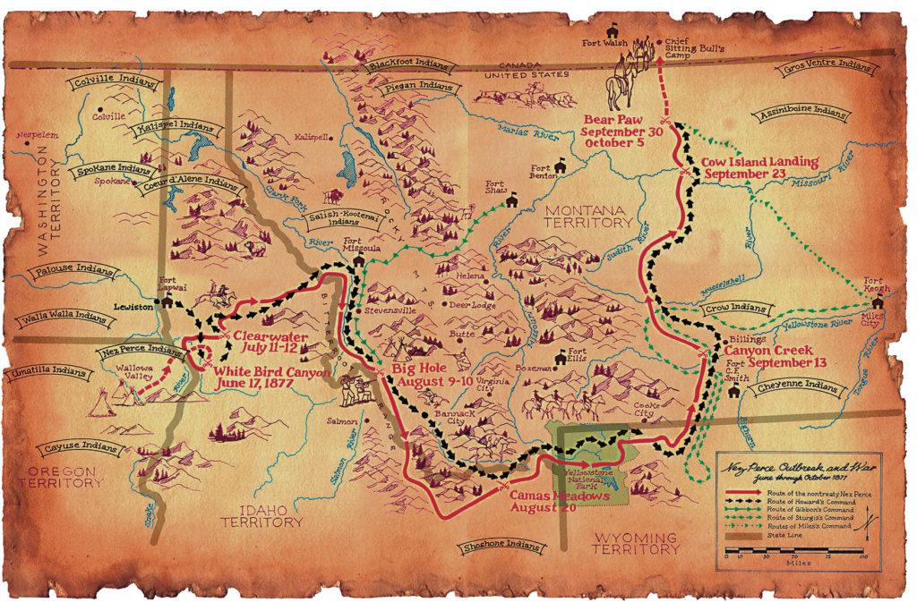 Chief Joseph Map True West Magazine