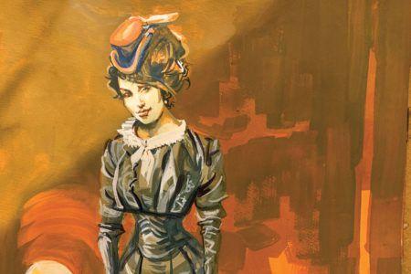 bob boze bell painting woman mexican spy true west magazine