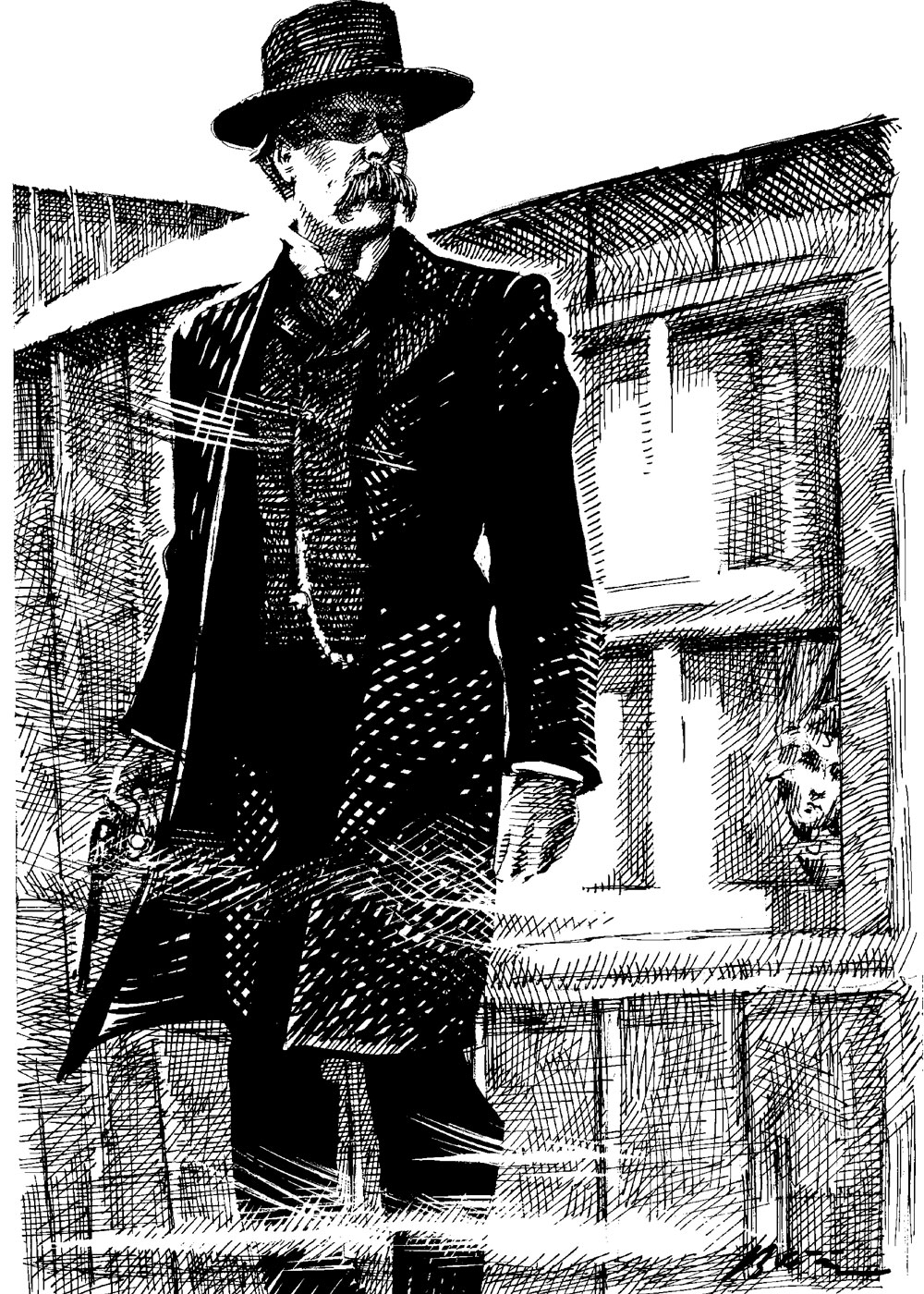 wyatt earp illustration true west magazine