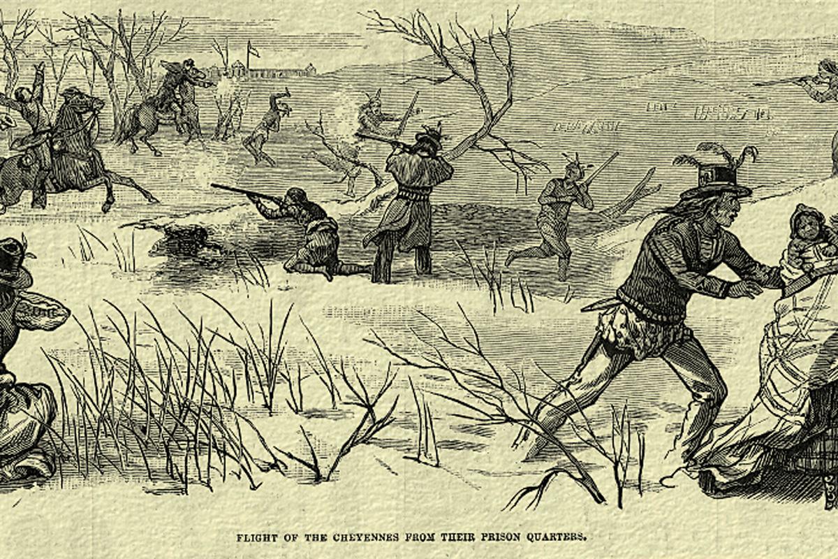 newspaper illustration indian massacre true west magazine