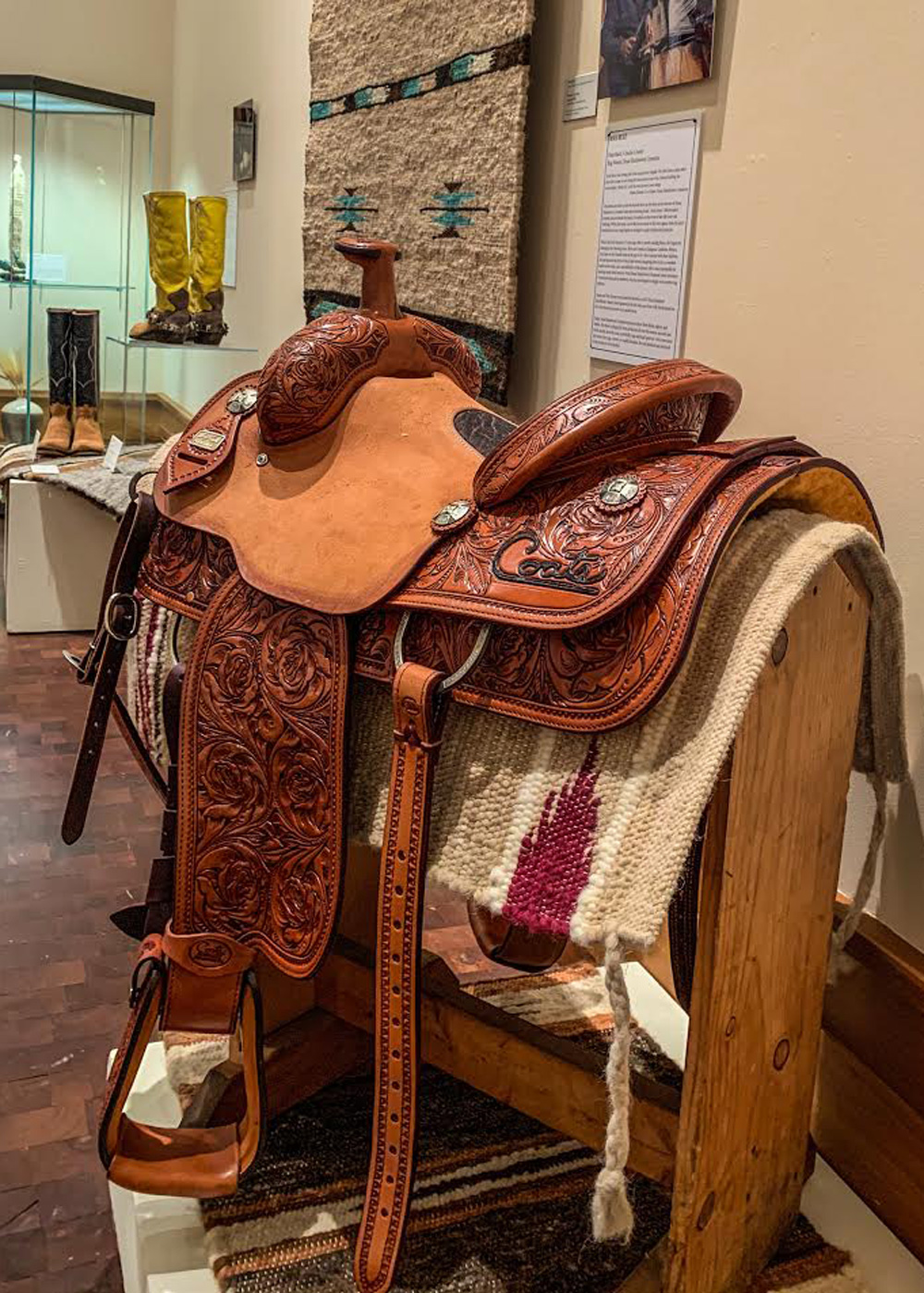 saddle maker true texas exhibit true west magazine